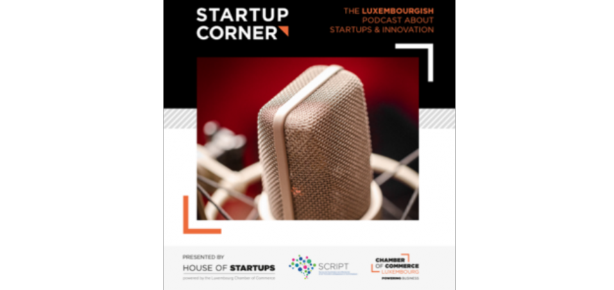 "Discover a new monthly podcast: ""Startup Corner"""