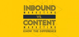#Infographie: Inbound Marketing vs Content Marketing